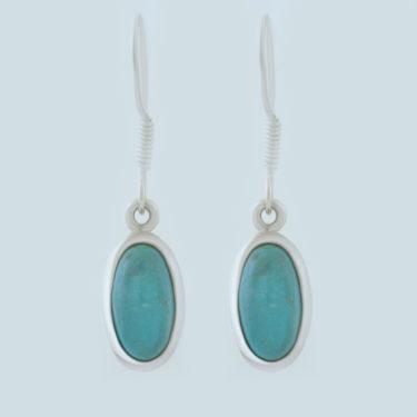 Stone: Turquoise-Kingman AZ (Earring)