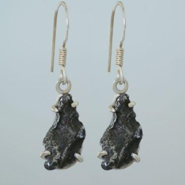Stone: Metorite (Campo del Cielo) (Earring SM)