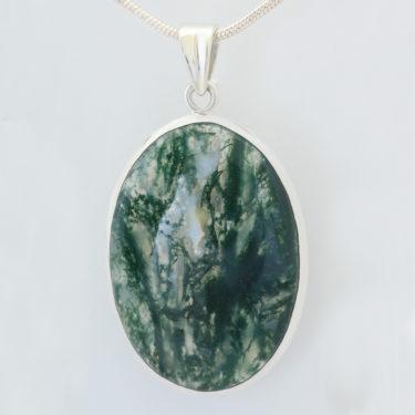 Stone: Agate, Moss (Pendant)