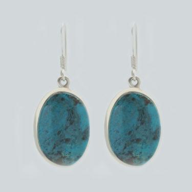 Stone: Turquoise-Tibetan (Earring)
